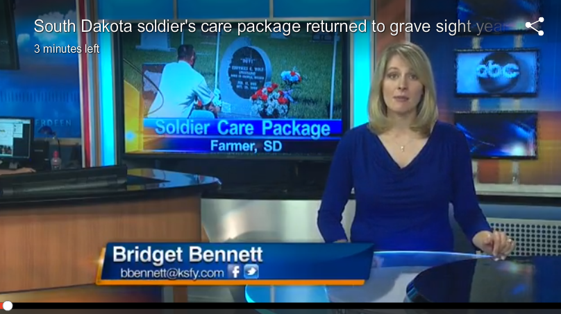 South Dakota Soldier's Care Package Returned to Grave Sight Years Later