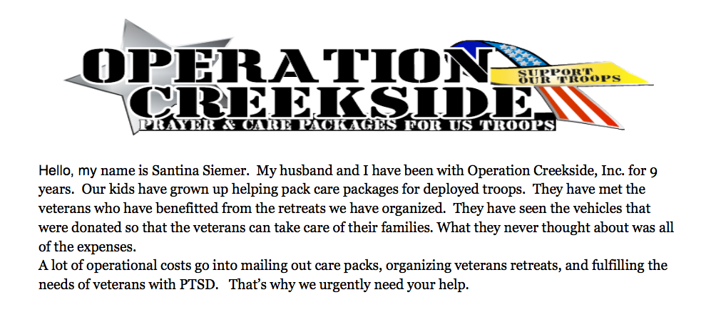 Support Operation Creekside